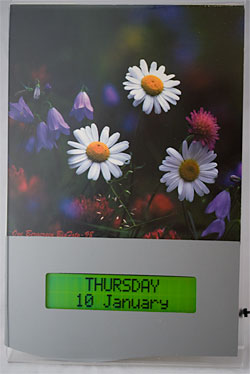 Forget-me-not electronic calendar